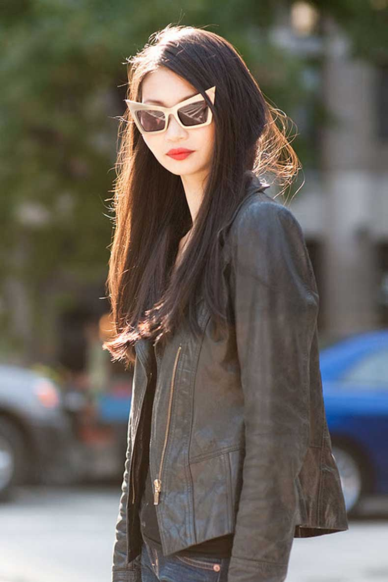 street-style-asian-girl--red-lips--jenny-packham-vanessa-jackman--gold-frame-sunglasses--street-style--cool-funky-stylish--unique