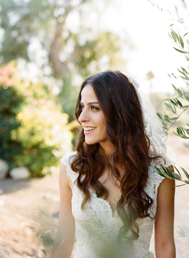 Bride-with-Long-Wavy-Hair