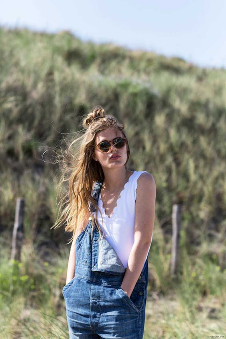 2-Le-Fashion-Blog-19-Ways-To-Wear-A-Half-Up-Top-Knot-Bun-Long-Hair-Overalls-Via-AfterDrk