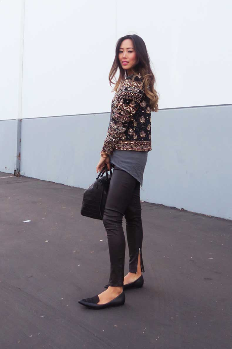 aimee_song_calypso_st_barths_sequin_jacket_leather_pants_pointy_flats1