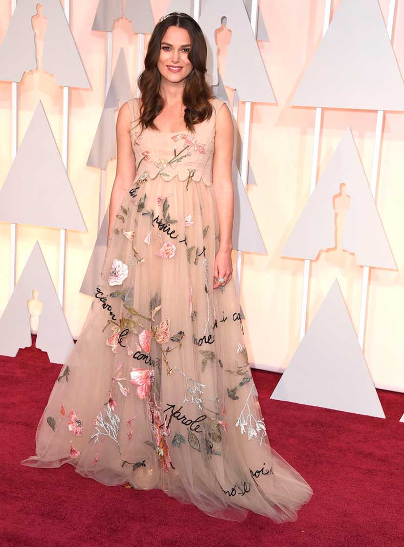 Her-Academy-Awards-Dress-Bouquet-Beautiful