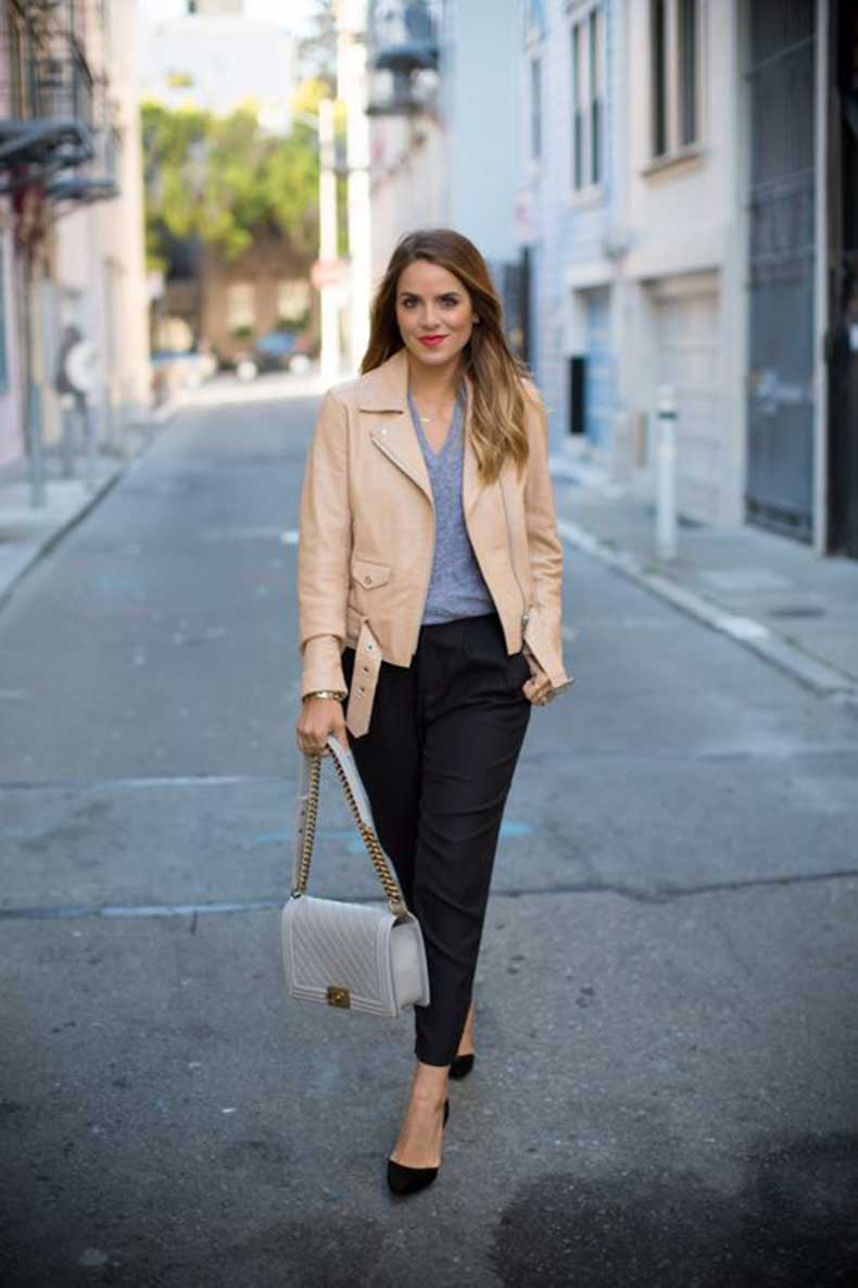 exceptional light tan leather jacket outfits