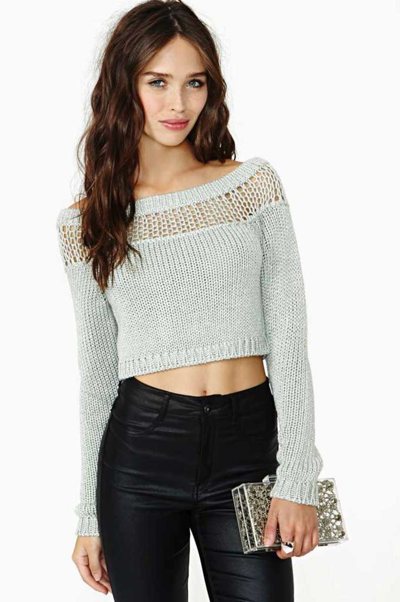 Para Mujer Knit Sweater Pullover mujeres 2015 otoño