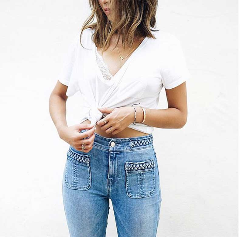 Knotted-High-Waisted-Denim