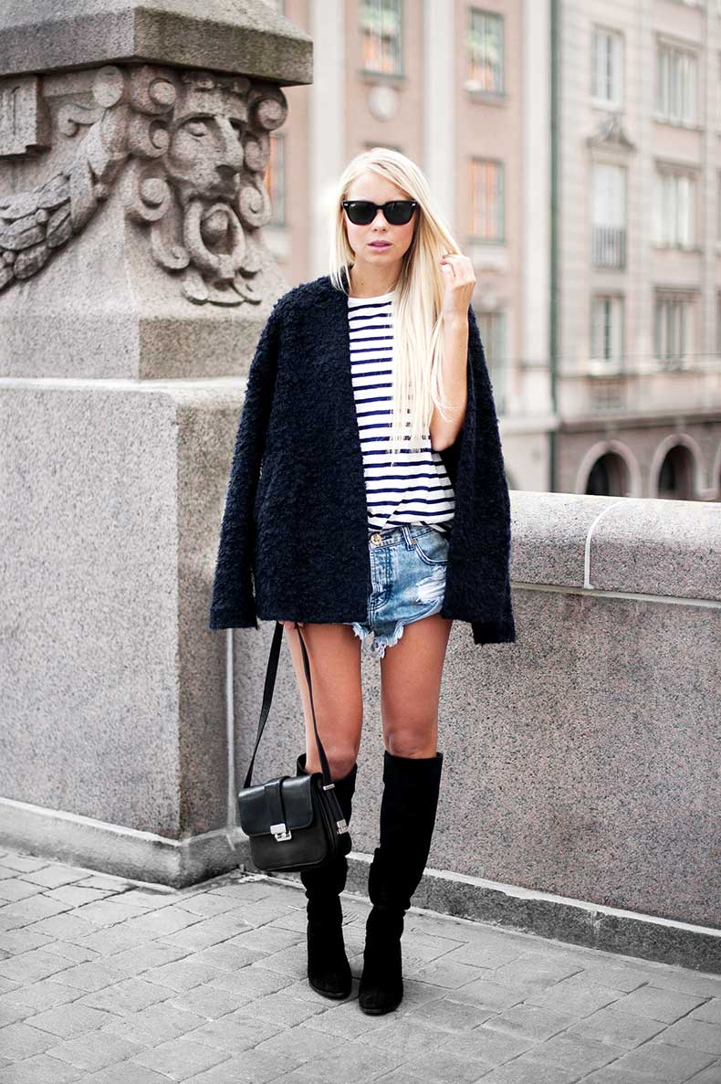 4.-striped-shirt-with-denim-shorts