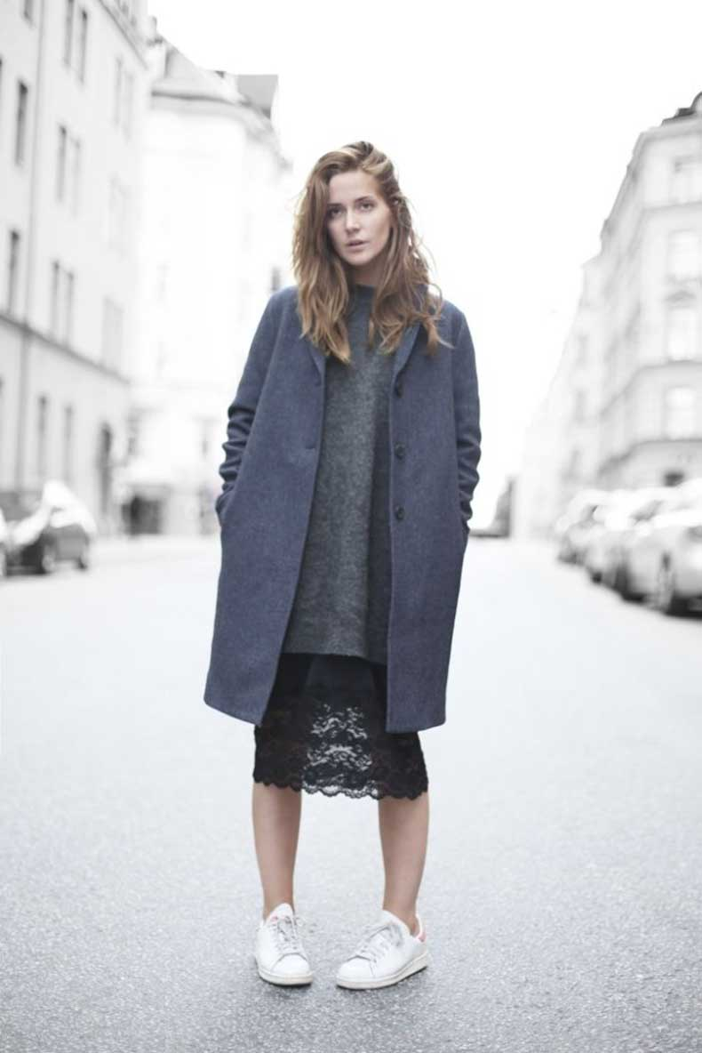 sweaters-and-skirts-black-lace-pencil-skirt-grey-long-oversized-sweater-navy-coat-sneakers-and-skirts-white-sneakers-winter-fall-via-bloglovin.com_-683x1024