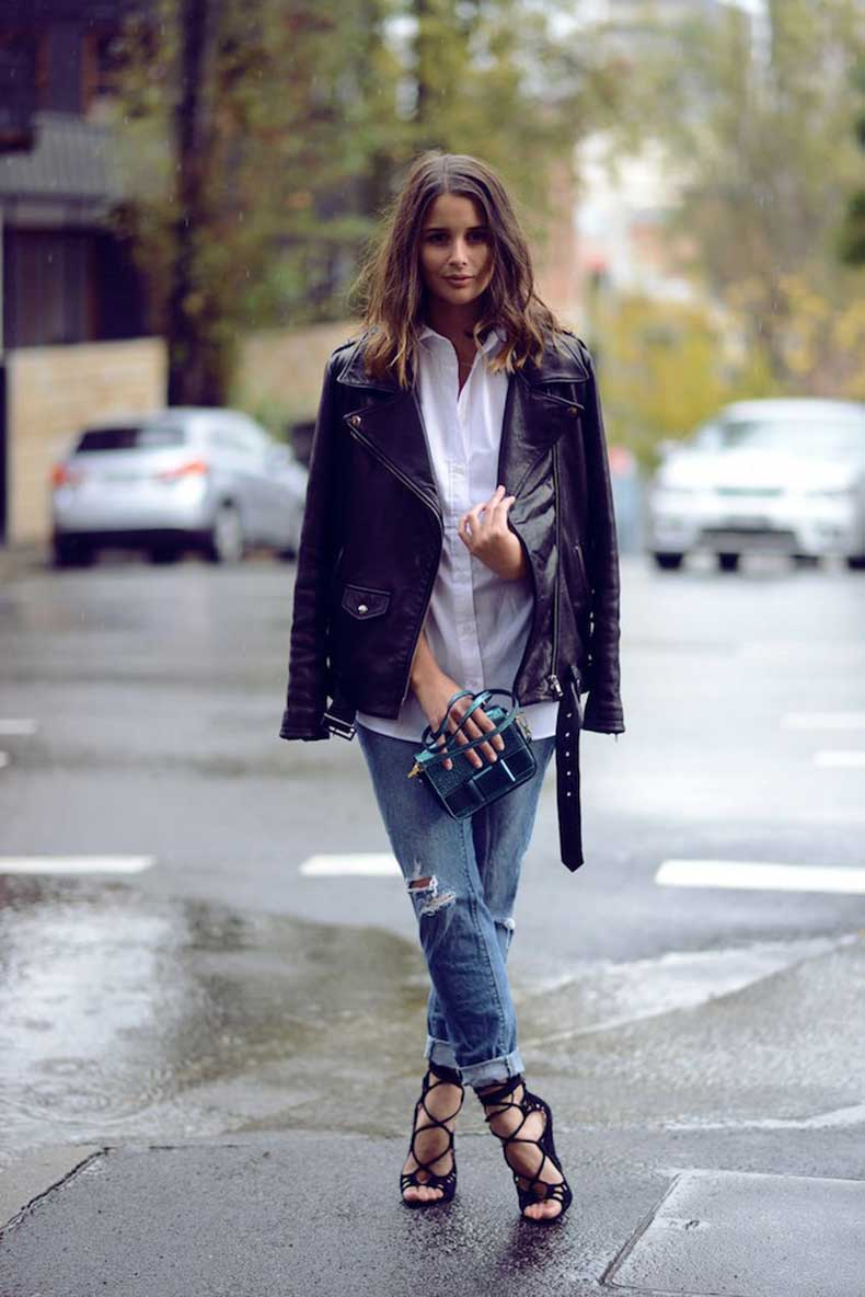 how-to-style-leather-jacket