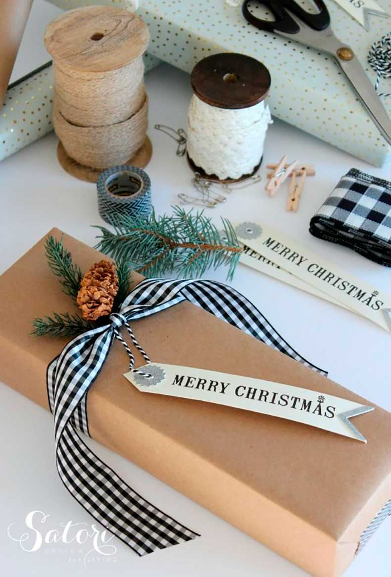25 Lindas Ideas Para Envolver Regalos Con Papel Craft