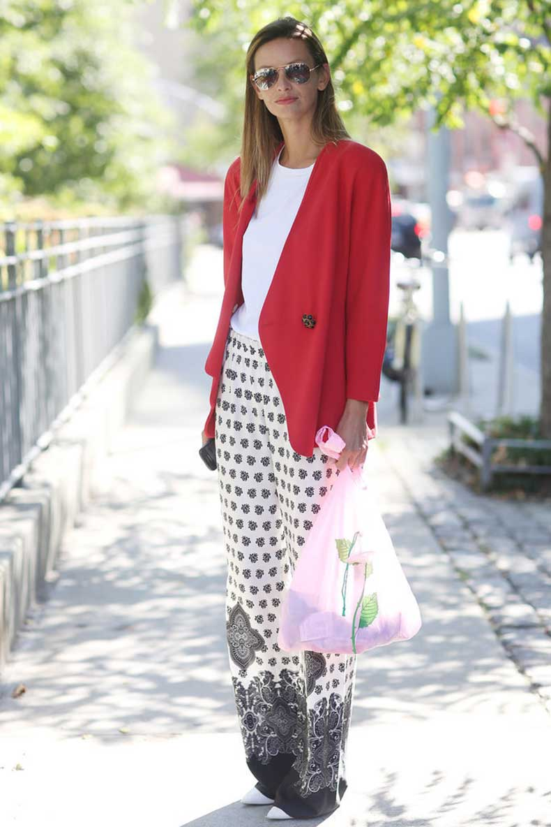 Give-pajama-pants-office-worthy-makeover-sleek-blazer-up