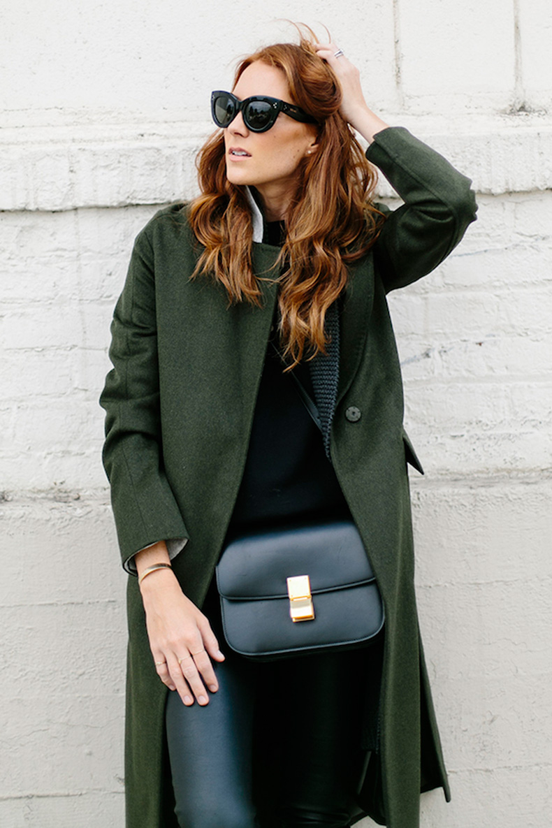 Le-Fashion-Blog-Ways-To-Wear-Green-Jacket-Fall-Winter-Blogger-Style-Coat-Cat-Eye-Sunglasses-Sweater-Cross-Body-Bag-Leather-Pants-Via-Could-I-Have-That