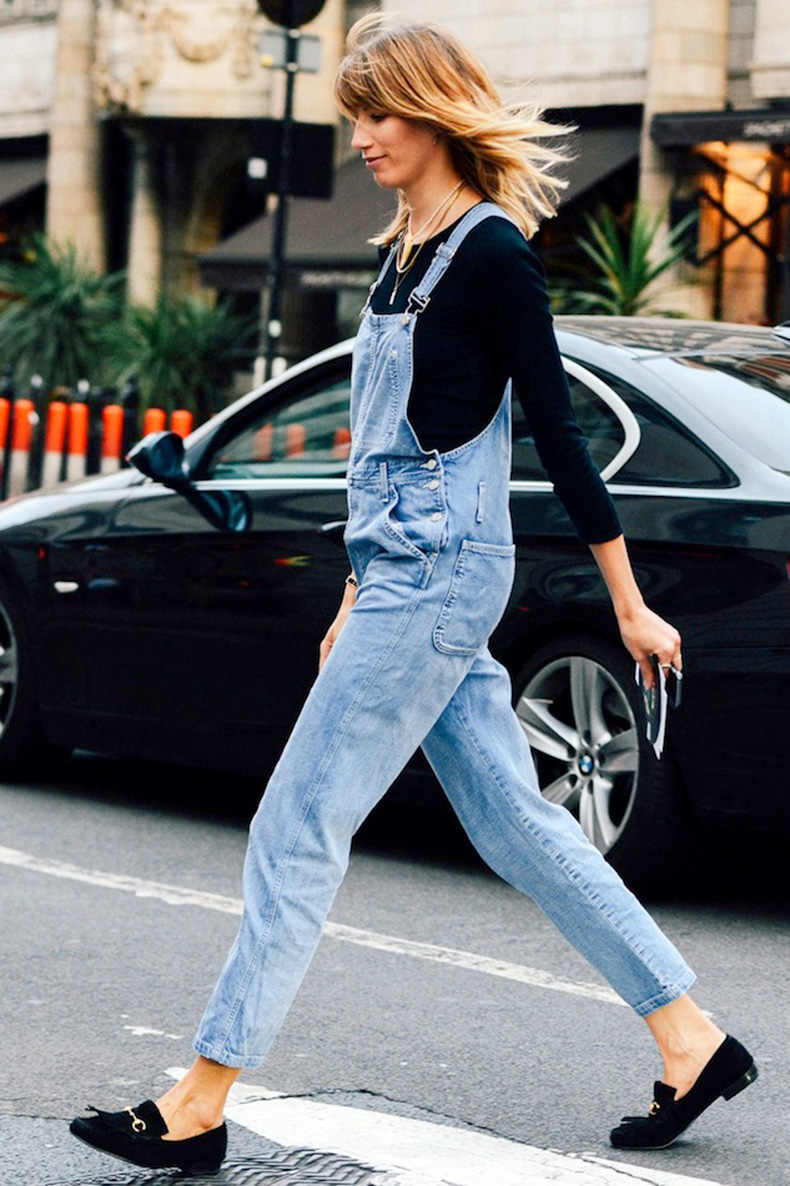 Le-Fashion-Blog-London-Street-Style-Veronika-Heilbrunner-Denim-Overalls-Suede-Loafers-Via-Tommy-Ton-Style-Com