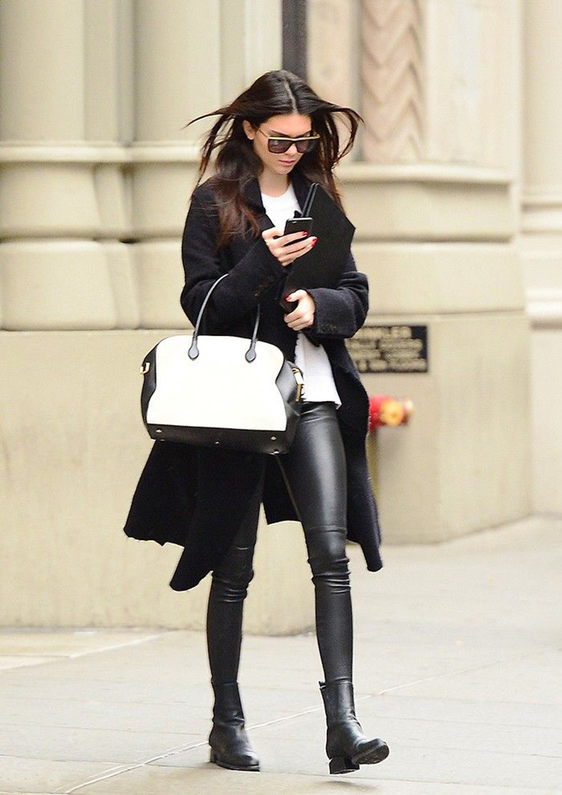 black-leather-skinnies-chelsea-boots-black-coat-white-tee-black-and-white-kendall-jenner-via-whowhatwear