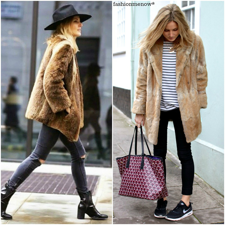 light-brown-faux-fur-coat-trend-fall-winter-2014-striped-top-trianers-hat-outfits-street-style