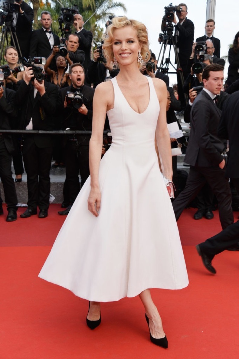 Eva-Herzigova-chose-chic-white-fit--flare-Dior-dress-Chopard