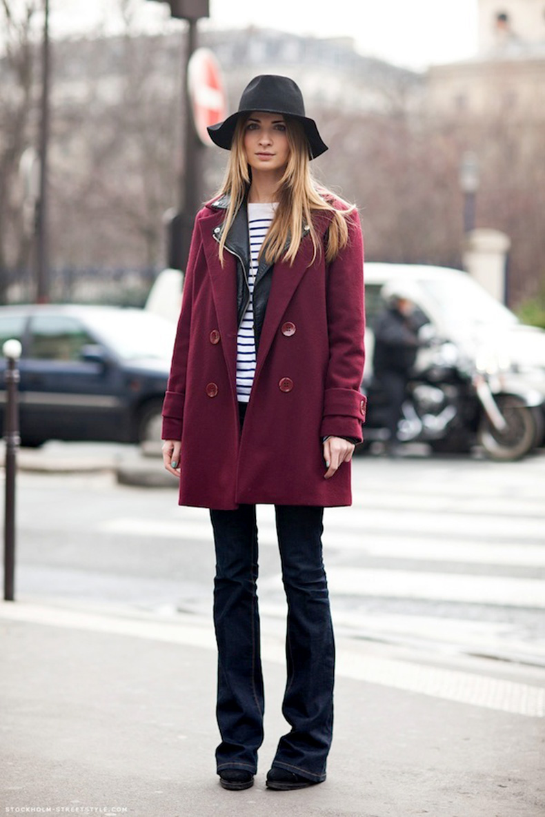 Le-Fashion-Blog-7-Ways-To-Wear-Stripes-In-Winter-Floppy-Hat-Red-Coat-Leather-Moto-Jacket-Striped-Sweater-Flared-Jeans-Via-Stockholm-Street-Style
