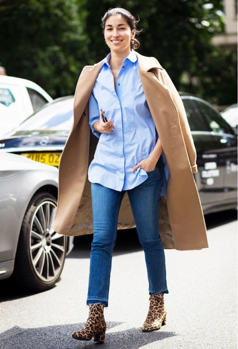 caroline-issa-cropped-flares-leopard-ankle-booties-fall-outfits-oxford-mens-oxford-shirt-camel-coat-via-style-du-monde