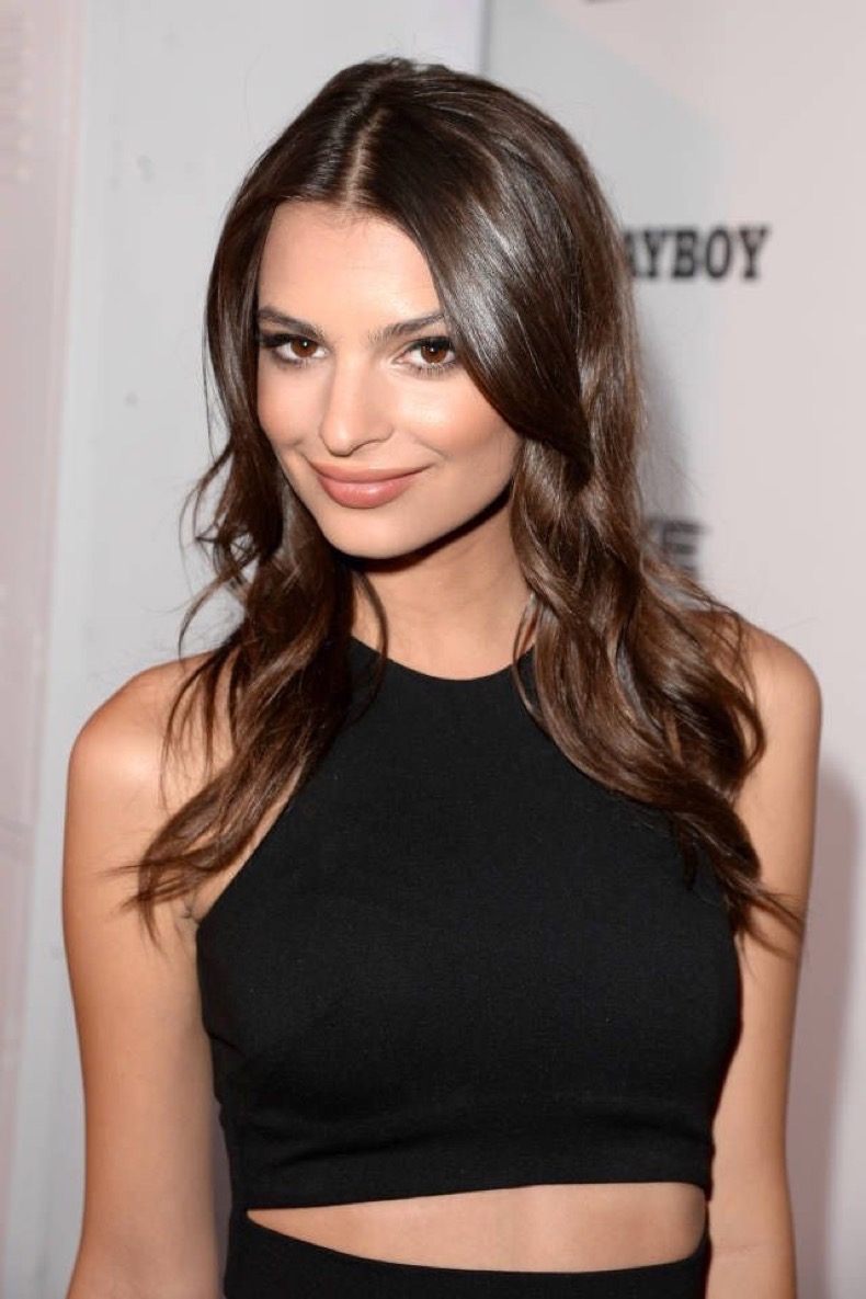 "SAN DIEGO, CA - JULY 19:  Model Emily Ratajkowski arrives at the Playboy and Universal Pictures' ""Kick-Ass 2"" event at Comic-Con sponsored by AXE Black Chill on July 19, 2013 in San Diego, California.  (Photo by Jason Merritt/Getty Images for Playboy)"