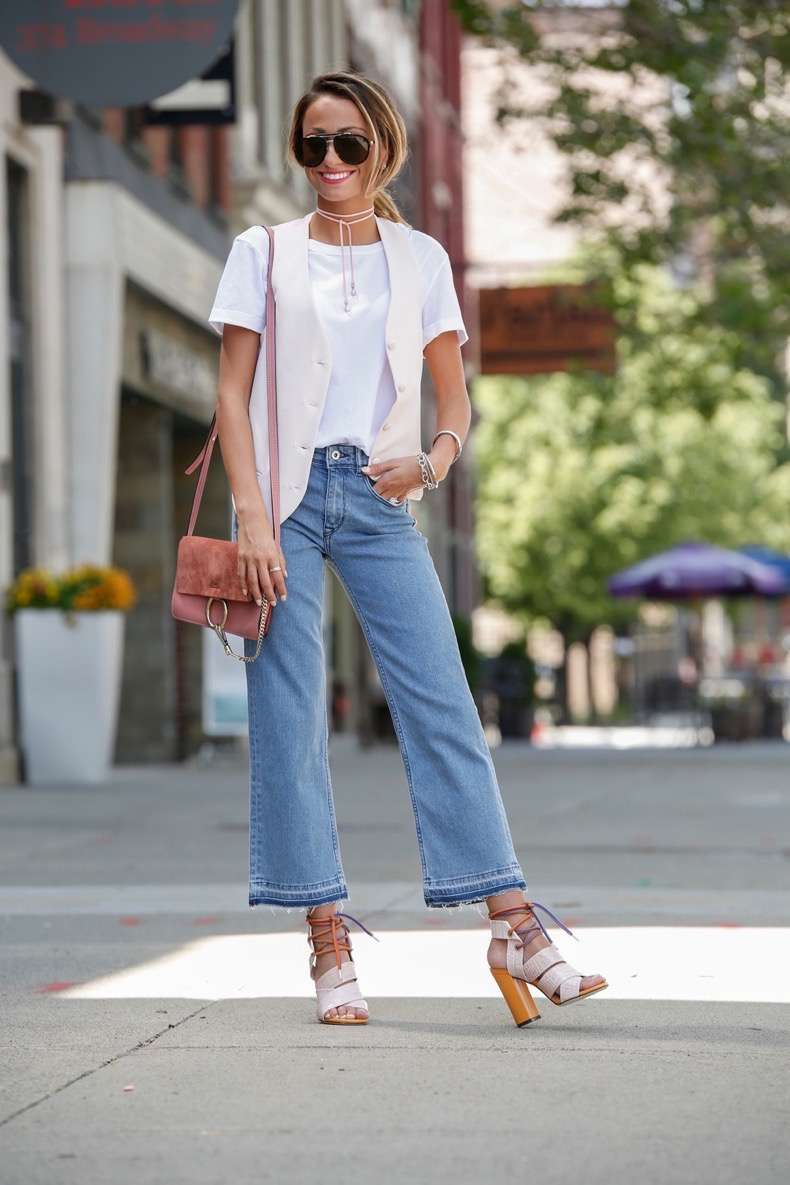 the+cropped+flare+jean+for+spring+as+seen+on+North+of+Manhattan+paired+with+a+tee,+ASOS+tailored+vest,+Chloe+fay+bag,+and+MSGM+sandals
