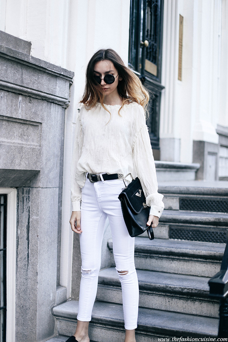 all-white-summer-outfit-ideas-mango-linen-blouse-western-leather-belt-trend-2016