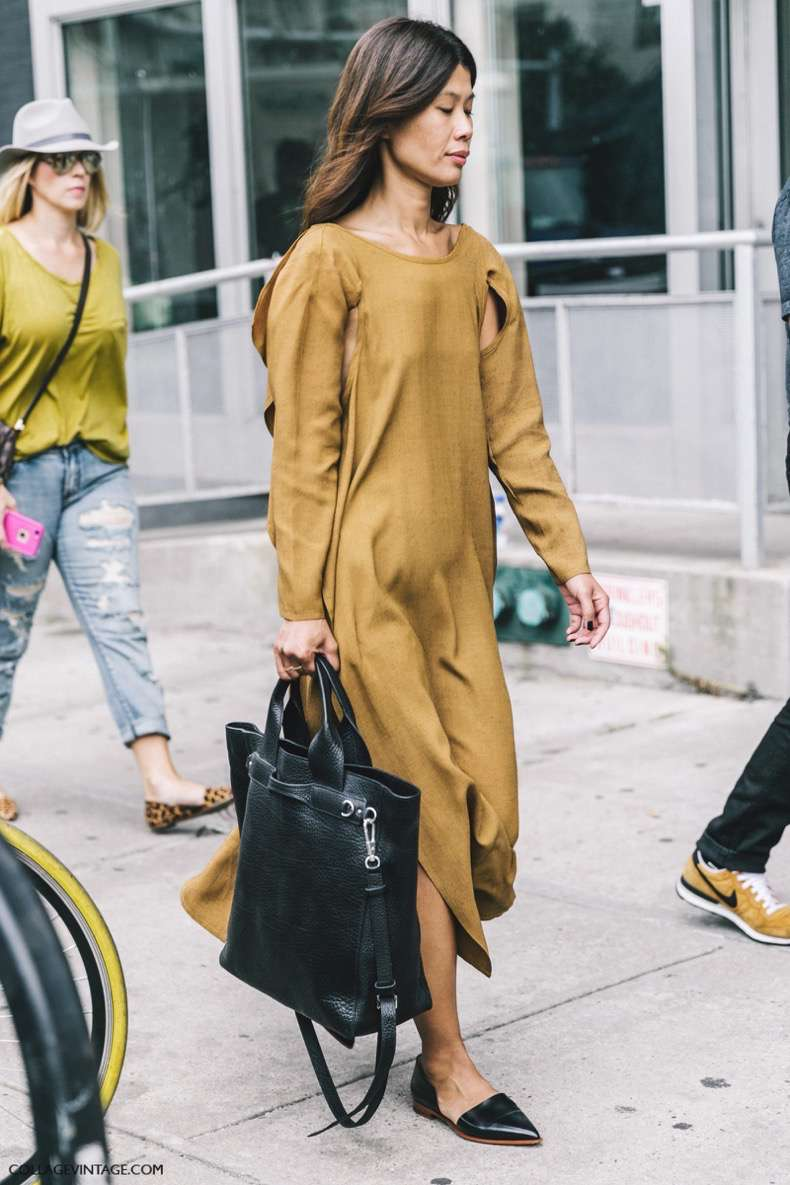 nyfw-new_york_fashion_week_ss17-street_style-outfits-collage_vintage-mustard_dress-shopper_bag-1-1600x2400