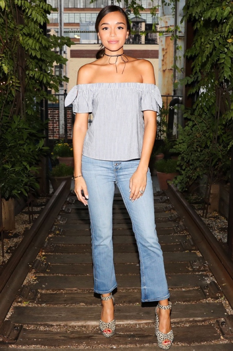 Mandatory Credit: Photo by Neil Rasmus/BFA/REX/Shutterstock (5807036al) Ashley Madekwe Abercrombie and Fitch: 2016 Summer Event, Gallow Green Rooftop, New York, USA - 28 Jul 2016