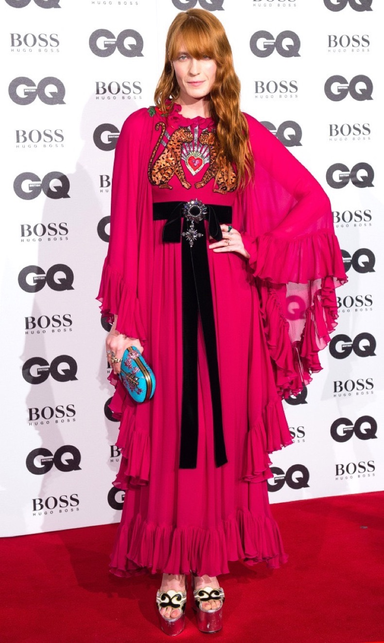LONDON, ENGLAND - SEPTEMBER 06: Florence Welch arrives for GQ Men Of The Year Awards 2016 at Tate Modern on September 6, 2016 in London, England. (Photo by Jeff Spicer/Getty Images)