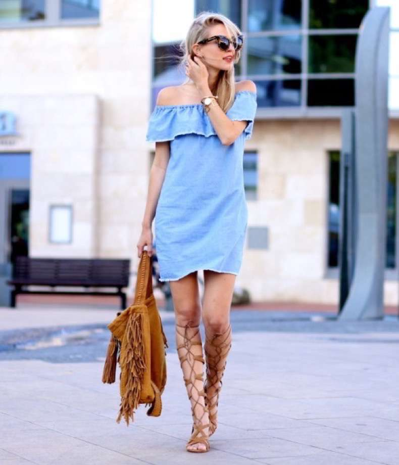 off-shoulder-jean-dress