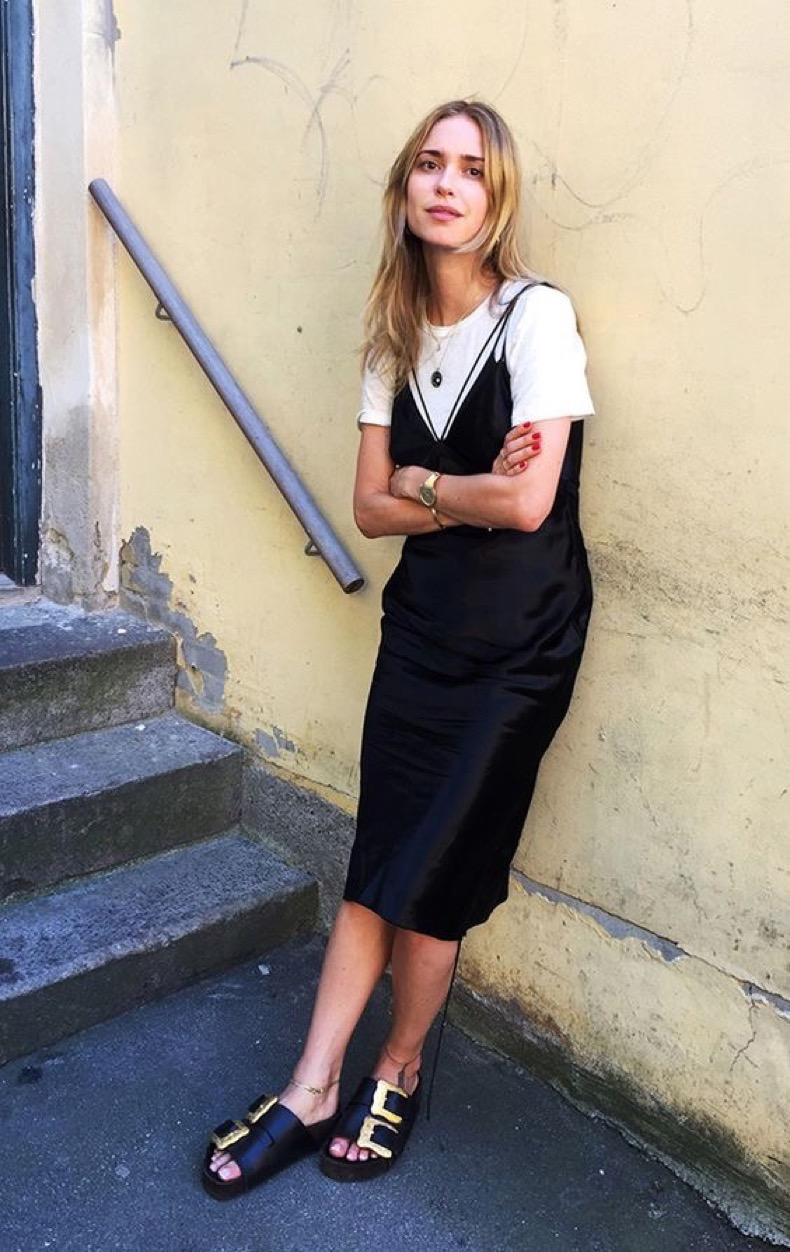 street-style-look-slip-dress-and-tee-shirt-with-birks